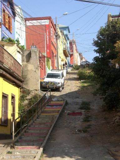 Valparaiso, straatje omhoog