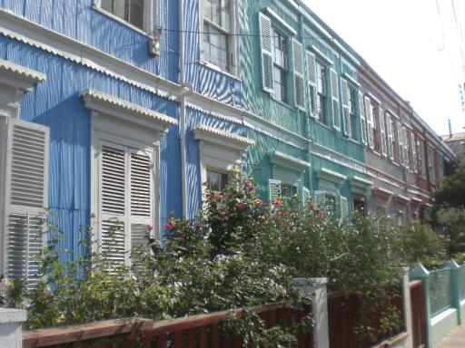 Valparaiso, gekleurde huisjes