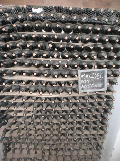 Mendoza, gestapelde wijnflessen
