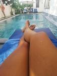 Chilling aan het zwambad🌞😎