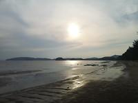 Zonsondergang @ the beach