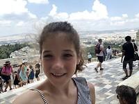 Zoë op de akropolis!