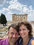 Mama en Papa op de akropolis