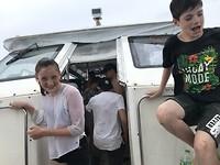 Natgesplashd op de boot