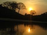 Zonsondergang tijdens kanotocht