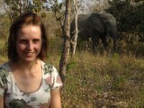 Dancielle bij olifant
