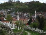 Begraafplaats en uitzicht in Travnik