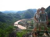 Op kartsgebergte boven Nong Kiaw