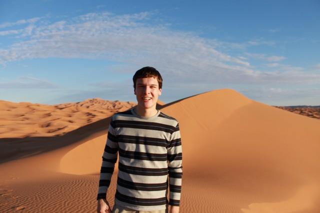Zandduinen in de woestijn