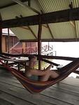 Hangmatten waarin we sliepen