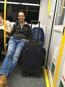 In de trein naar het centrum van Sydney