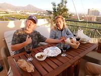 Bij Jeroen en Paula op het dakterras
