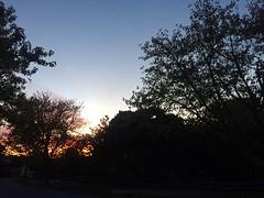 Bij zonsondergang komen we aan op de camping