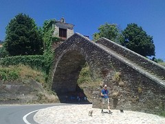 Replica brugdeel Portomarin