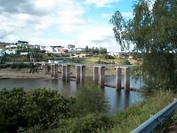 alleen de brug nog over naar de camping