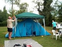 het kamp verwacht slecht weer