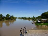 rivier Dordogne oversteken na Saint-Emilion