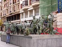 de stieren in Pamplona (Baskenland)