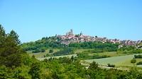 een hoogtepunt in de route, de enorme romaanse kathedraal in Vézelay