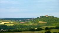 het uitzicht op Vézelay vanaf ons hotel Crispol