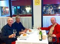 Coquelles St. Jacques eten na aankomst in Santiago