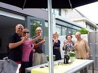 de toast van Gert en Wijnie, Bert en Marian, Margriet en Adriaan