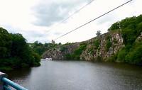 de rivier Creuze na Crozant wordt gepasseerd