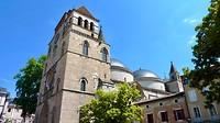 de kathedraal St. Etienne met 2 koepelgewelven in Cahors