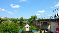 brug over de Lot bij het verlaten van Cahors