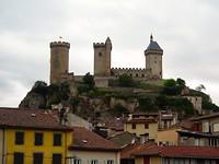 uitzicht vanaf ons hotel op Chateau de Foix