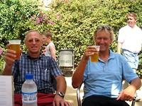 heerlijk biertje in Park Güell