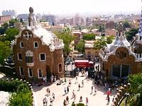 15 ha groot stadspark met Gaudi versieringen