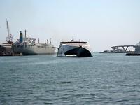 veerboot uit Mallorca komt binnen