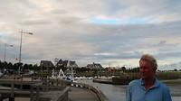 stadsgezicht van Le Crotoy met haven