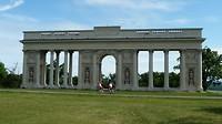 Brandenburger Tor bij de grens Tsjechië-Oostenrijk