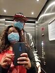 Lift selfie (na 2 drankjes op te hebben)
