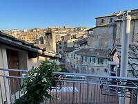 Uitzicht over Siena vanuit hotelkamer