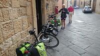 Vertrek uit Siena