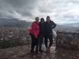 Uitzicht op Cajamarca in de regen