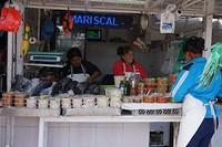Lekkere vishapjes op de markt