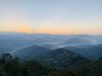 Prachtige sunrise in Nagarkot