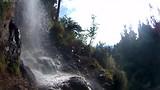 Onder de waterval door (bij Huanta)!