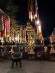 De pagode bij avond