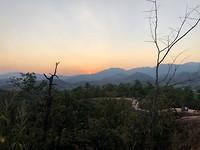 Pai Canyon zonsondergang