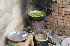 de keuken in free health camp Salyantar