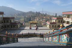 uitzicht vanaf de Puja in het dal