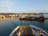 Op de ferry richting vliegveld