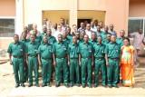 Groepsfoto met de Brigade Sanitaire