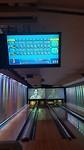 De bowling resultaten van Geert (boven) en mij (onder)