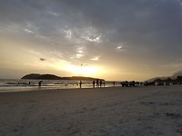 Ondergaande zon langkawi